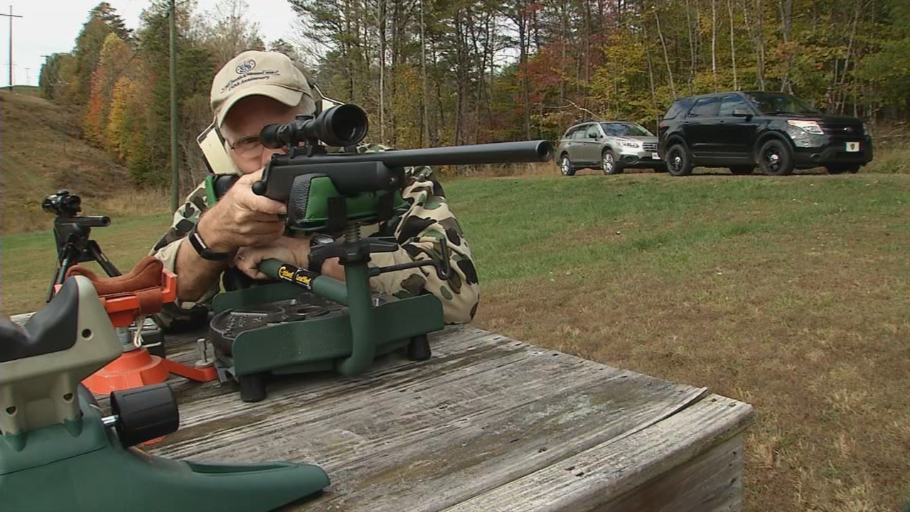 Mark Smith advises to always use a rest of some sort when sighting in your rifle. (WCHS/WVAH)