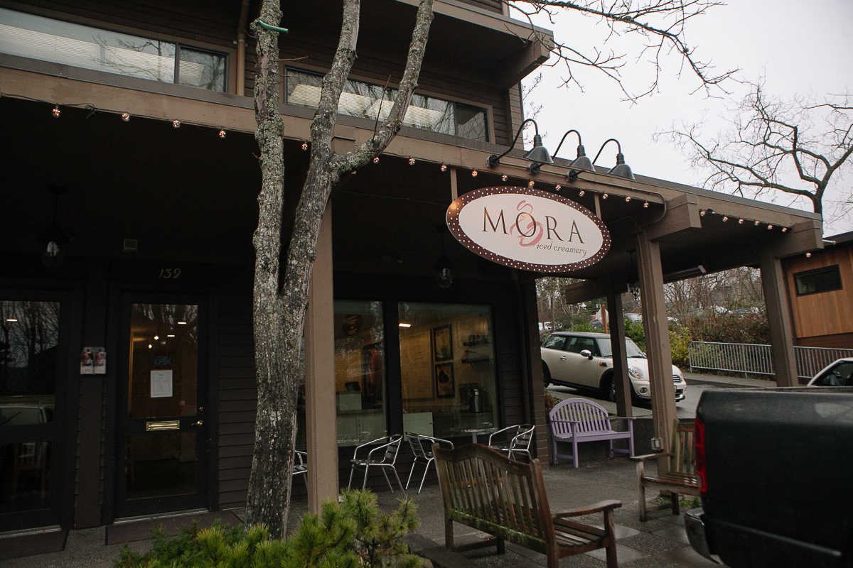 No trip to Bainbridge Island is complete without a stop at Mora Iced Cream. One of the most popular spots on the island, Mora Iced Cream offers dozens of flavors of ice cream including seasonal flavors and sorbets. Mora Iced Cream is located at 139 Madrone Lane and is open from 11:30am to 9:00pm. (Joshua Lewis / Seattle Refined)