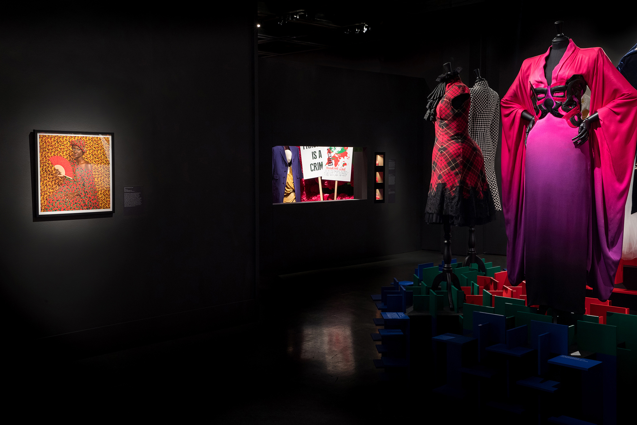 A Queen Within Installation view, New Orleans Museum of Art{ } Omar Victor Diop, Vivienne Westwood and Alexander McQueen Image by Josh Brasted