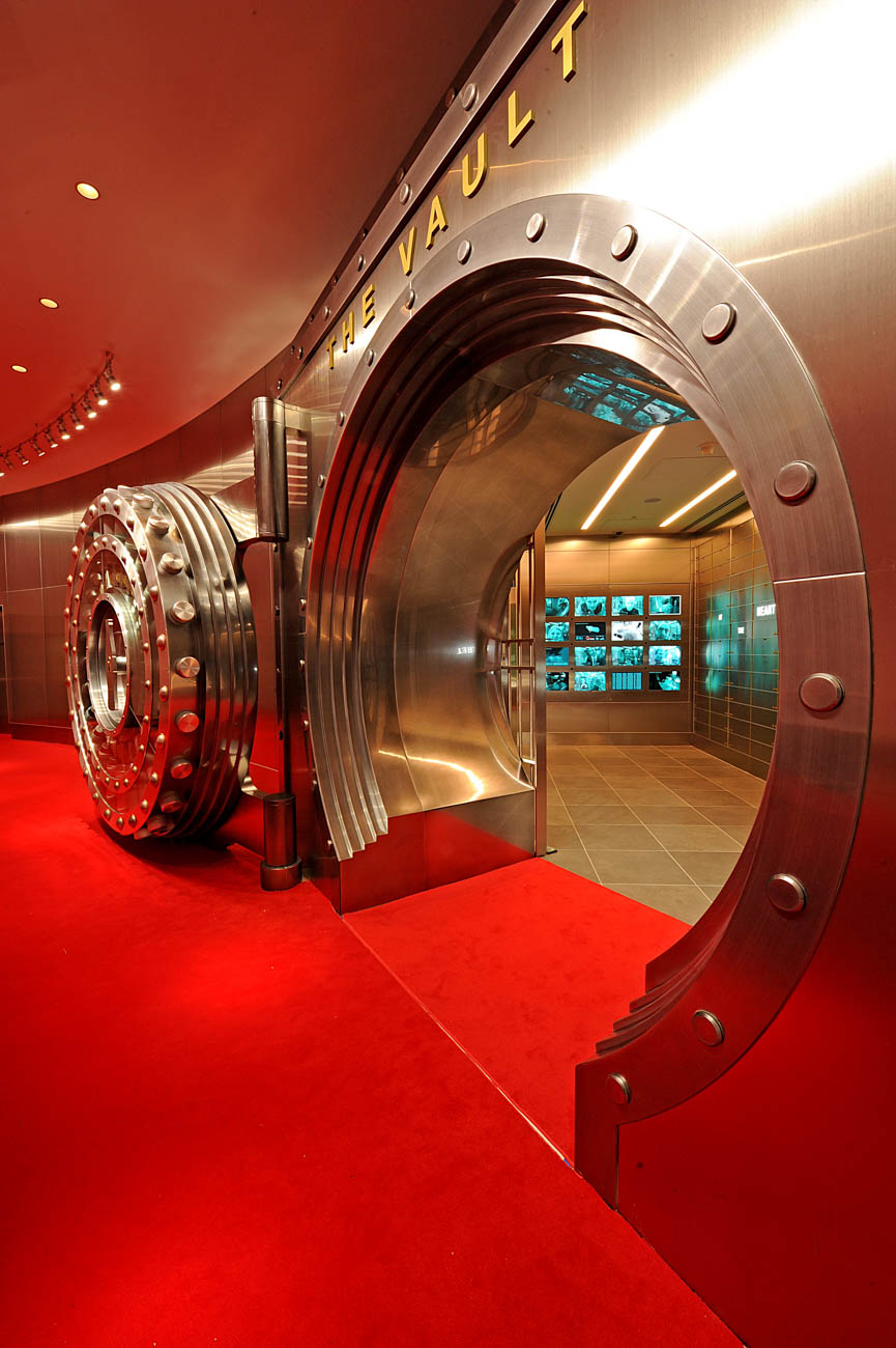 The entrance to the vault where the secret Coca-Cola recipe is stored at the World of Coca-Cola, one of the city's top attractions. ADDRESS: 121 Baker Street NW, Atlanta, GA (30313) / Image courtesy of World of Coca-Cola // Published: 4.3.19