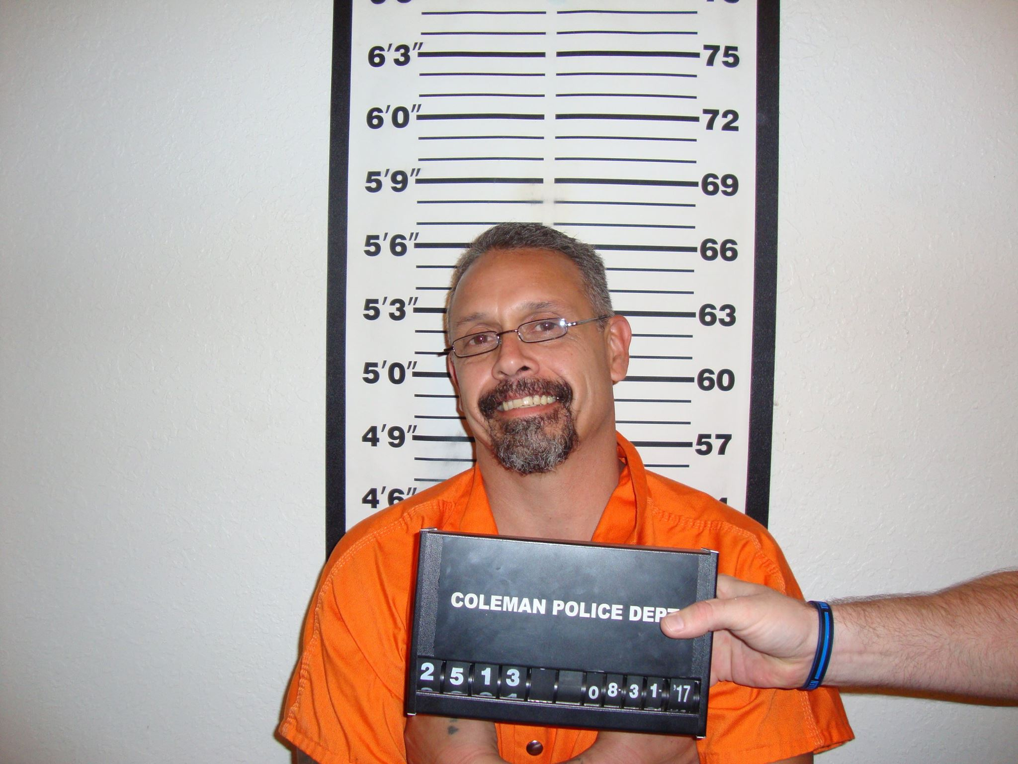 Joe Louis Rosales Jr., 46,Â?arrested in Coleman for reportedly having meth and guns.Â?