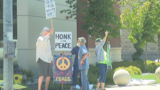 Local peace advocacy group encouraging people to get out and vote