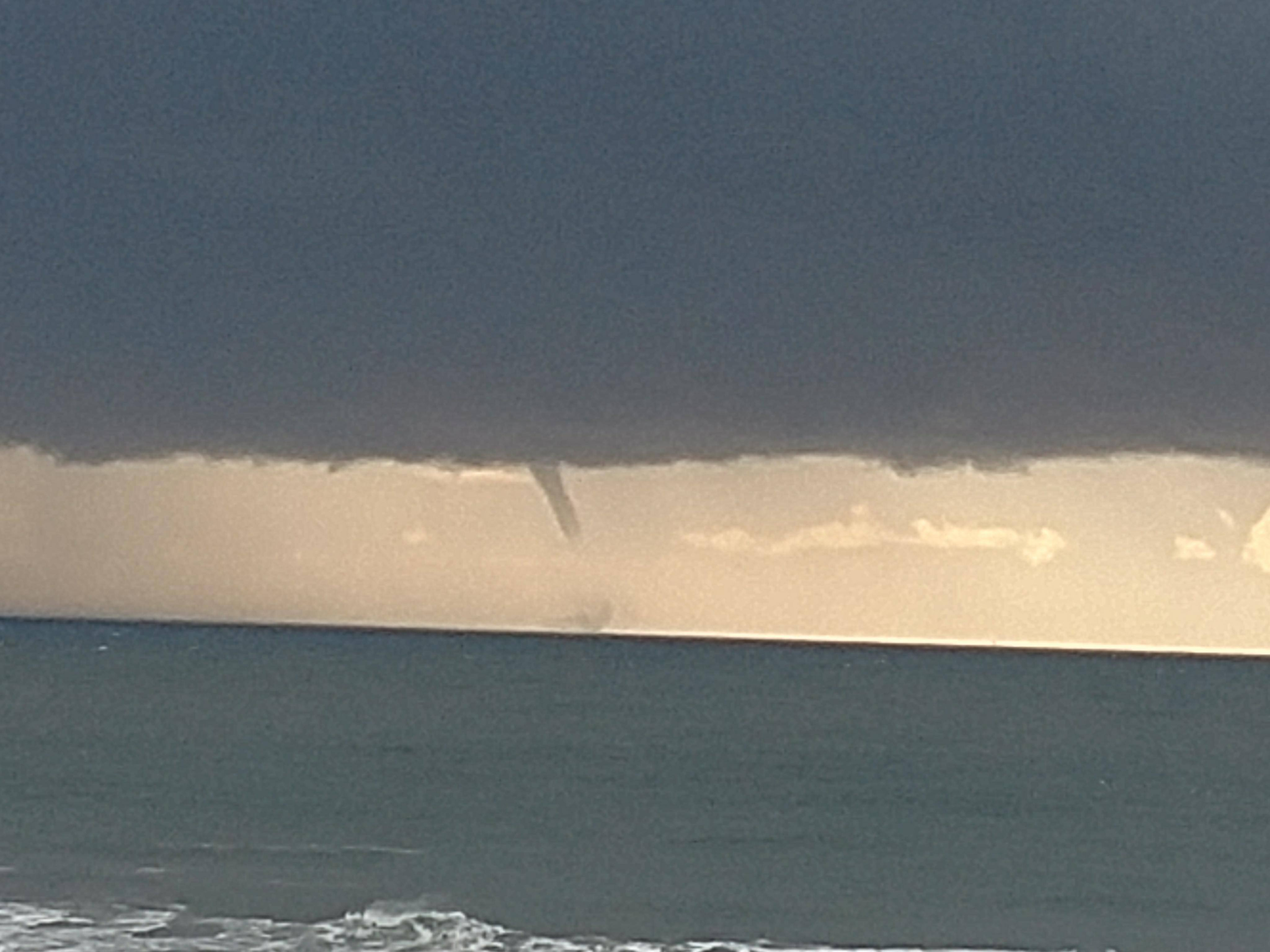 Two waterspouts were spoted off Ocean Shores on Thursday afternoon. (Photo: Carmen Lane)<p></p>