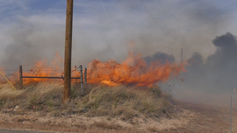 Several structures are being lost due to a fire that started as a grass fire in La Paloma and has spread to buildings. (ABC 7 Amarillo - Steve Douglass)