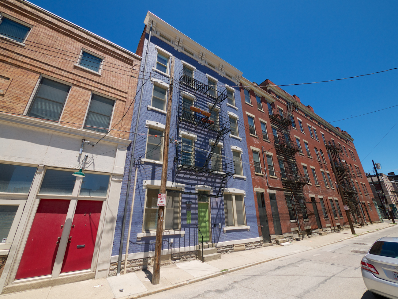 [AFTER] LOCATION: 14th Street, looking northeast between Walnut and Vine Streets at Rodney Alley (Over-the-Rhine) / IMAGE: Travis Estell