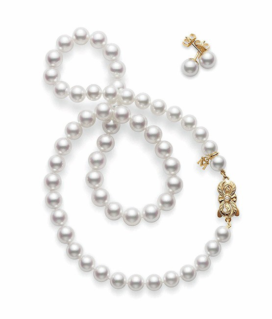 Mikimoto pearl necklace, price upon request, Liljenquist & Beckstead Jewelers, 8075 Leesburg Pike, Vienna, VA (Image: Courtesy Liljenquist & Beckstead)