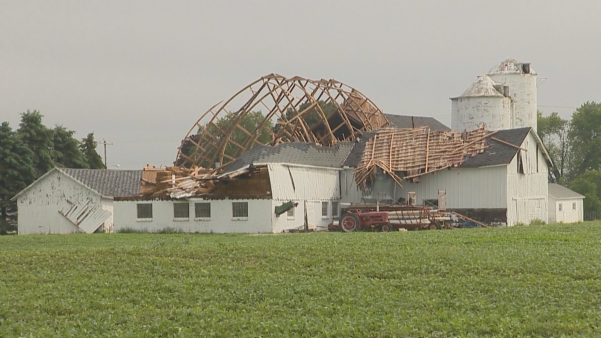Shawano Co. storm damage from the storm on 6/14/17 (Courtesy: FOX 11)