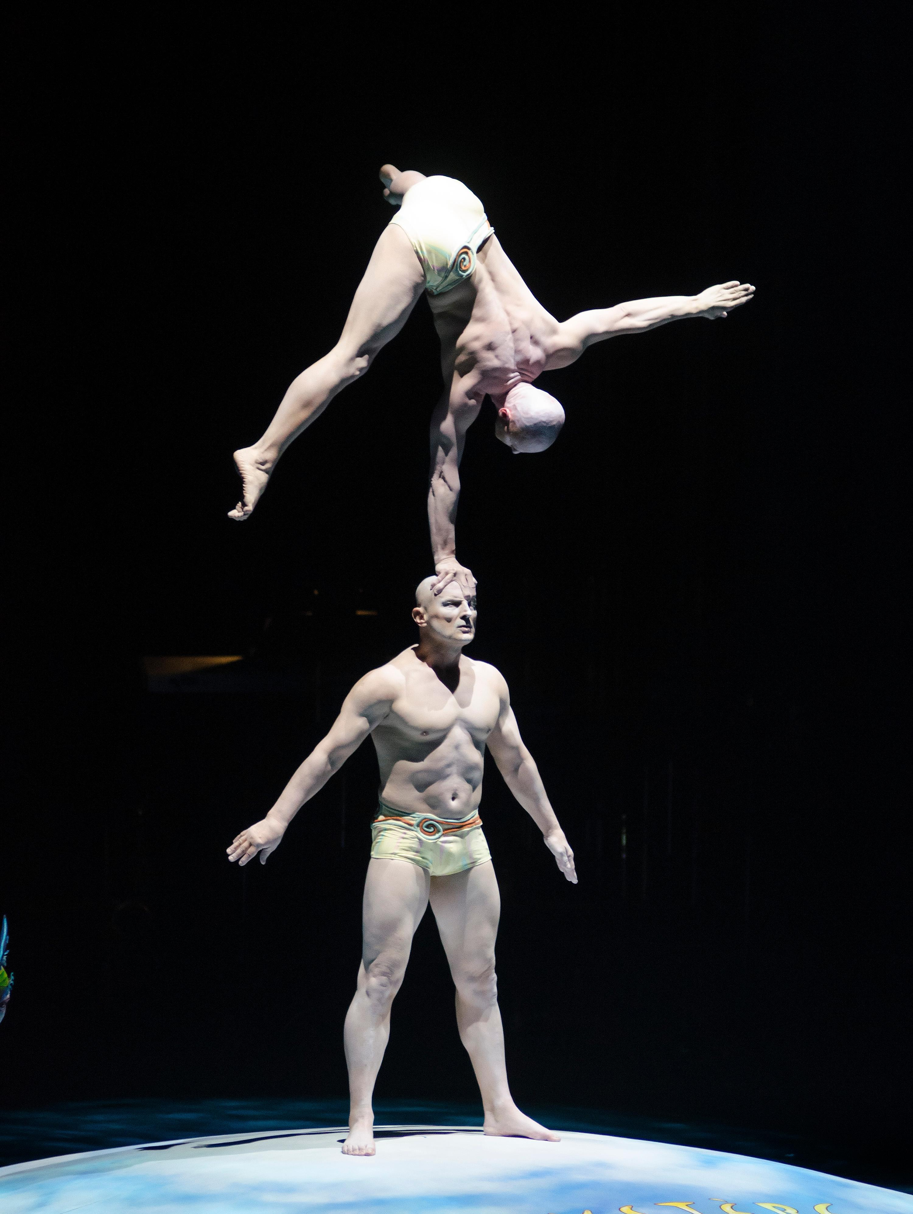 "Cast members from Cirque du Soleil perform during the ""Vegas Cares"" benefit concert at the Venetian Theatre in the Venetian hotel-casino at 3355 S. Las Vegas Blvd in Las Vegas on Sunday, Nov 5, 2017. The concert was sponsored by a group of Las Vegas entertainers, producers and business professionals to honor the victims and first responders from shooting at the Route 91 Harvest festival. (Photo/Las Vegas News Bureau/Bill Hughes)"