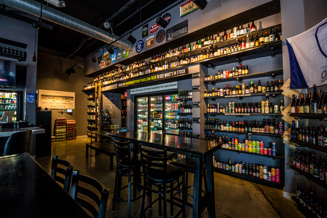 "Higher Gravity Crafthaus is a Northside bar and shop that offers a selection of over 500 local and global craft beers and 100 wines. Co-founders James Parnes and Nick Belleman both loved discovering drinks from all over their world while traveling extensively for their respective, former careers. They also shared an appreciation for the science and creativity behind the craft of making beer and wine. The name Higher Gravity refers to the idea that beer with ""higher gravity"" also has higher alcohol content. ADDRESS: 4106 Hamilton Avenue (45223) / Image: Catherine Viox // Published: 9.16.19"