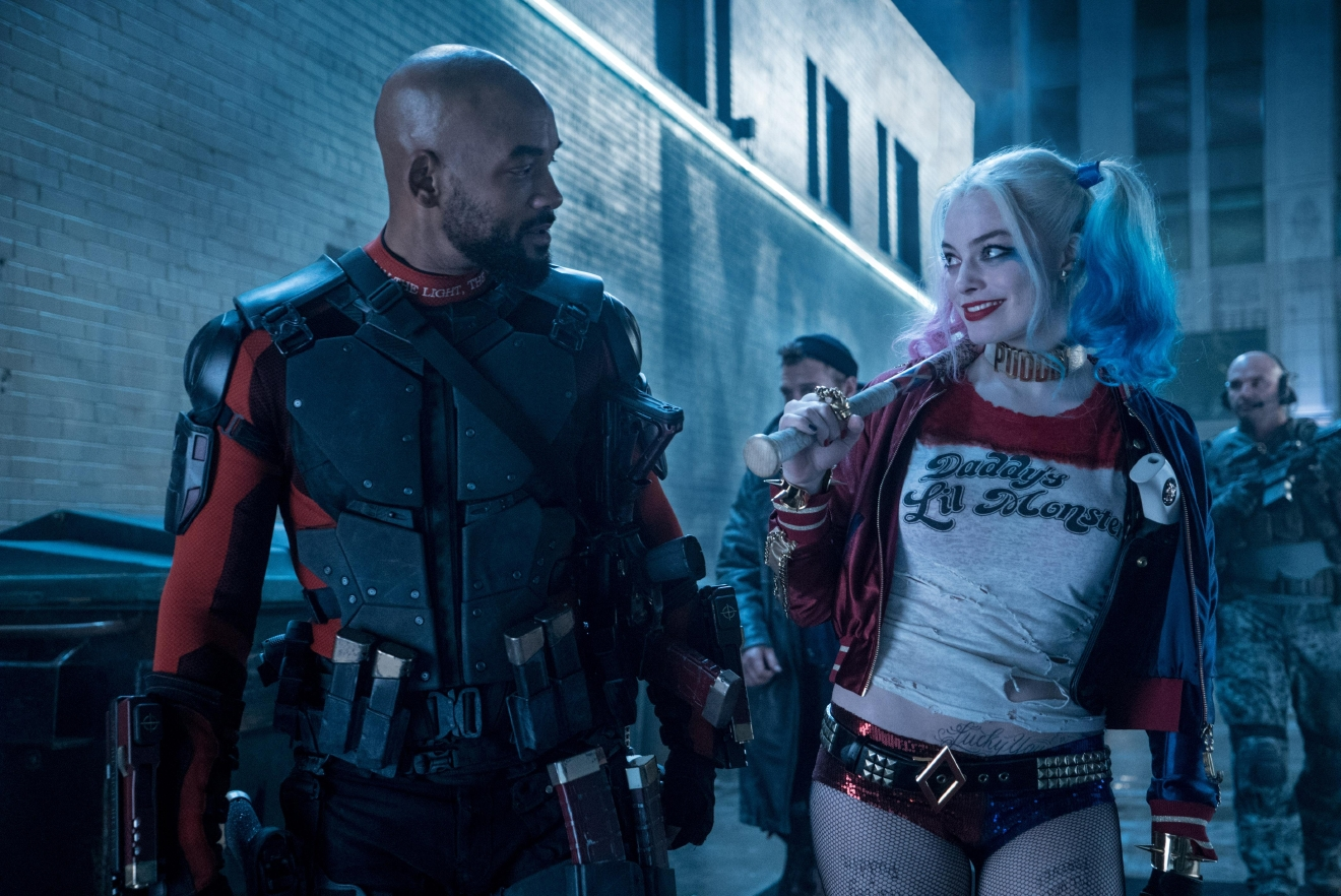 "(L-r) WILL SMITH as Deadshot and MARGOT ROBBIE as Harley Quinn in Warner Bros. Pictures' action adventure ""SUICIDE SQUAD,"" a Warner Bros. Pictures release."