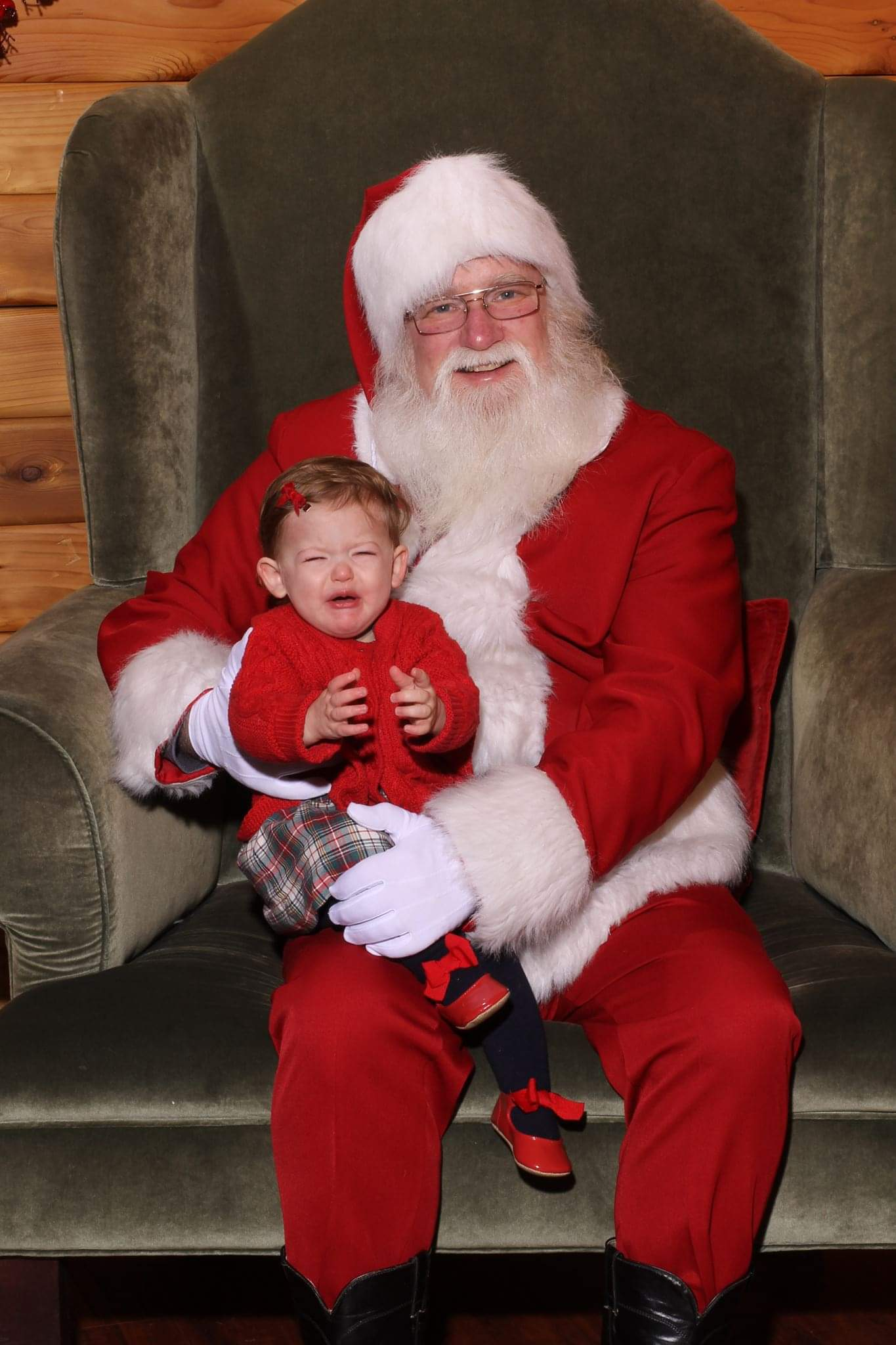 Ah, Santa Claus - the glorious bearded man in the big red suit who fulfills our kiddos holiday dreams and wishes.  Also doubling as, apparently, the scariest man alive. Grab a glass of eggnog, sit back and feast your eyes on these Santa pics gone wrong - or as I call them...realistic Santa pics. (Image: Erin and Rob Schmaus){ }