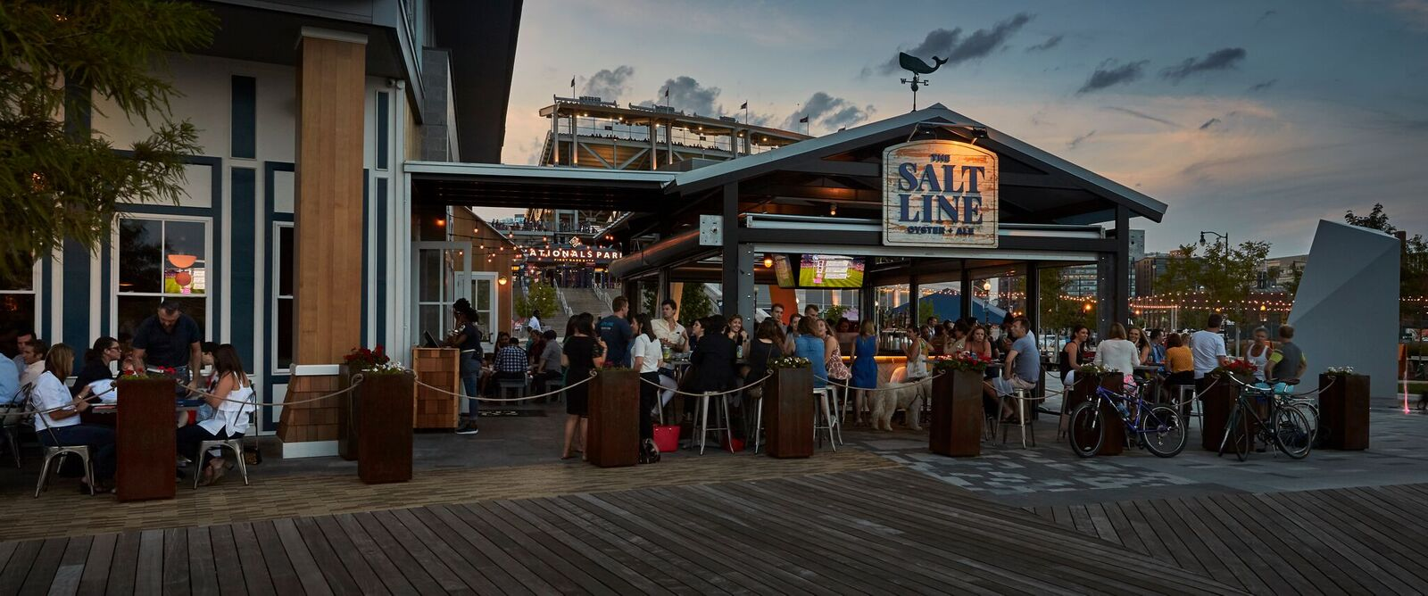 This Navy Yard spot is a favorite spot for locals to grab a drink and stellar seafood and they've just unveiled their extended lounge. The waterfront patio is perfect for pregaming Nats games or just slurping down oysters in the sun.  (Image: Greg Powers)