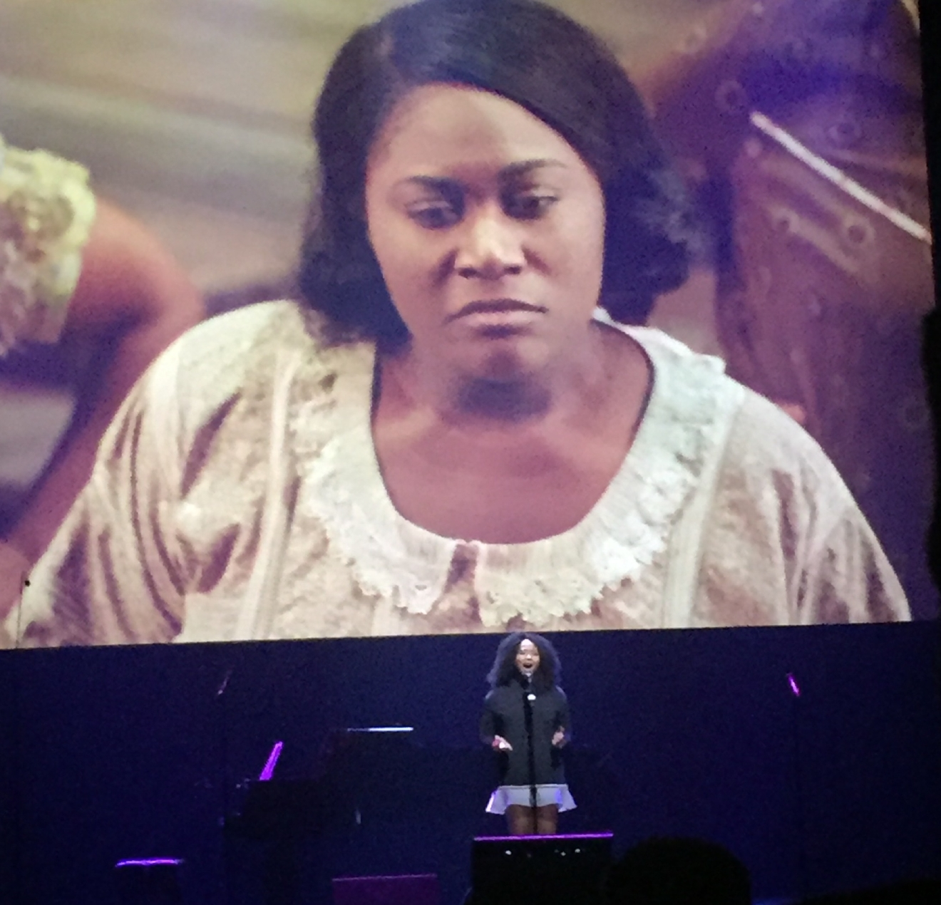 The Color Purple was revealed as an upcoming tour during the Smith Center for the Performing Arts 2017-2018 Broadway series preview Tuesday, Feb. 28, 2017, in Reynolds Hall. Star of the upcoming tour, Adrianna Hicks, made a special performance from the musical. (Jami Seymore | KSNV)