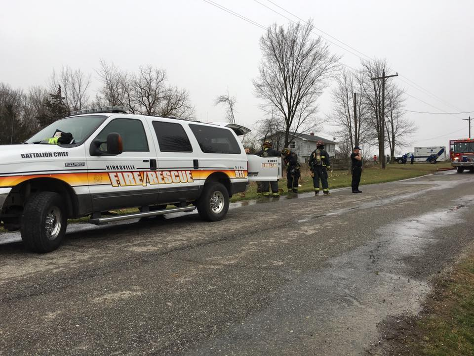 Emergency personnel responded to a home on North Lincoln Street around 3:00 p.m., Saturday. (KTVO/Ashley Hoak)