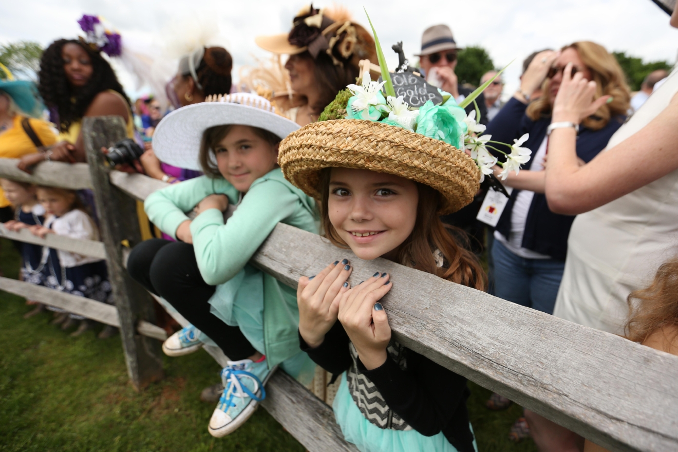 Children also joined the hat competition. (Amanda Andrade-Rhoades/DC Refined)