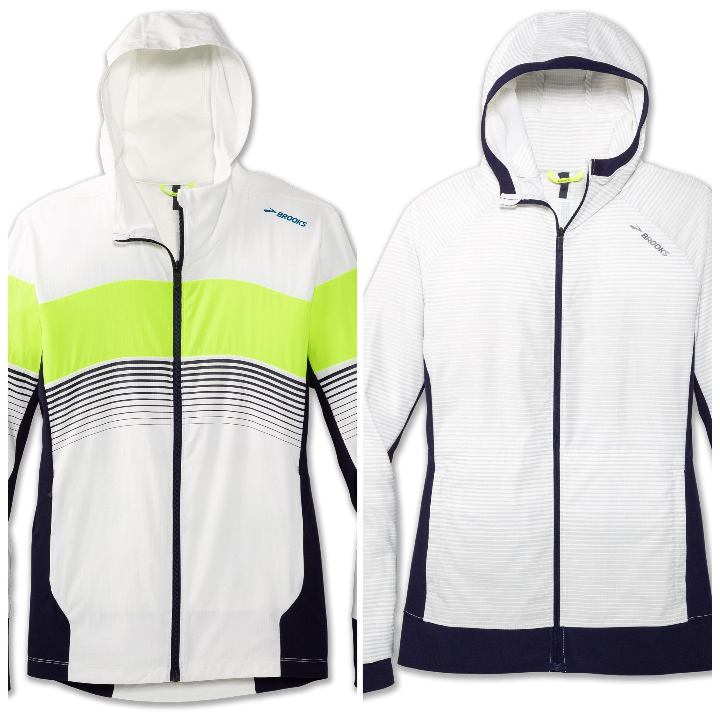 Keep those New Years resolutions going strong with these his and hers outdoor Canopy jackets from Brooks Running.{ } Breathable wind- and water-resistant fabric keeps you dry when the weather turns with a fitted and storable hood that quickly snaps in place. Price $120. (Image: Brooks){ }