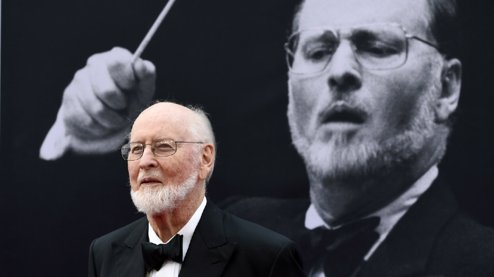 John Williams greets 'Star Wars' musicians outside home