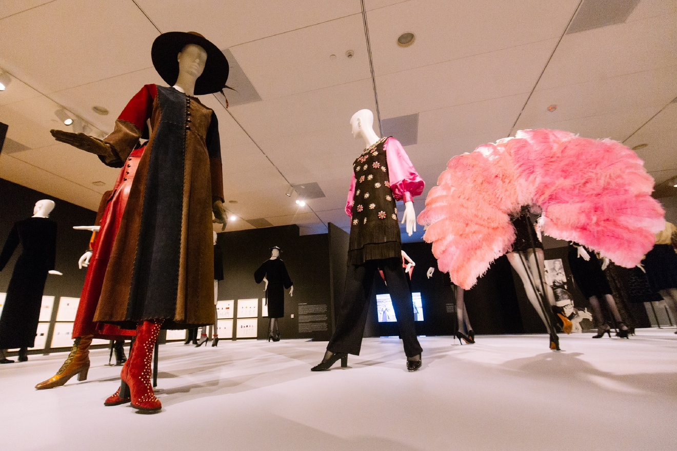 Yves Saint Laurent: The Perfection of Style opens at Seattle Art Museum October 11th and continues through January 8th 2017. The exhibition guides viewers on a path tracing the trajectory of Yves Saint Laurent's life and career. Divided into eight thematic sections, it features 110 ensembles and illustrative of his achievements and the sources of his design inspiration. (Image: Joshua Lewis / Seattle Refined)