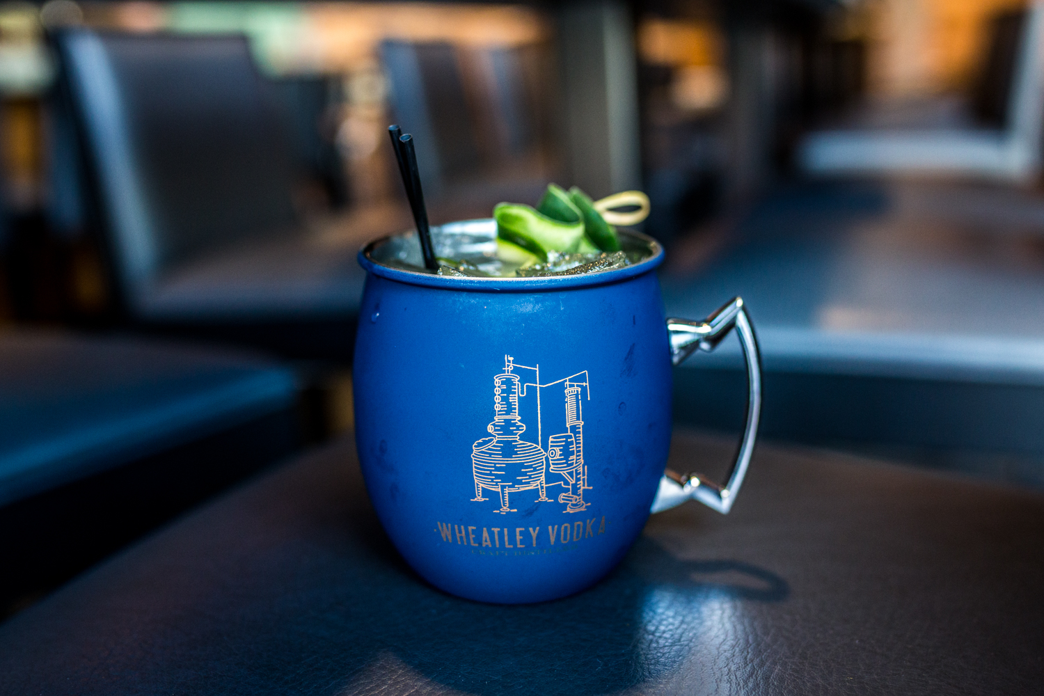 Cucumber Mule: Stoli cucumber vodka, ginger beer, fresh lime juice, and cucumber / Image: Catherine Viox{ }// Published: 10.10.19