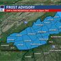 Frost Advisory overnight Tuesday into Wednesday morning