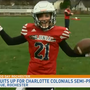 Ashley 'tackles' football with the Charlotte Colonials