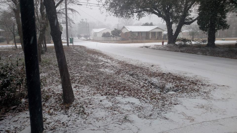 Snowfall in Cheraw{ }(Viewer Submitted photo)