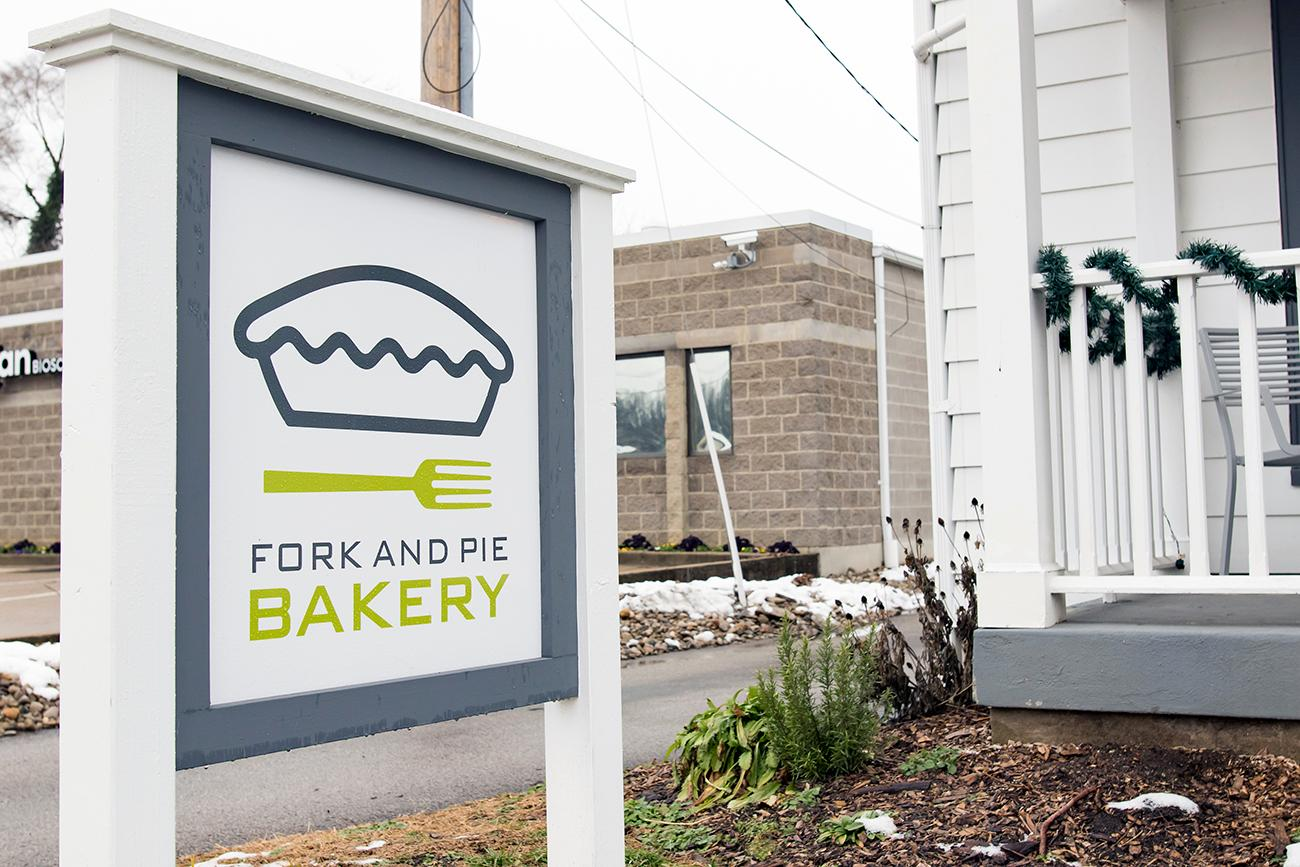 Fork and Pie Bakery is owned and operated by Stevie Rufener. Her sweet and savory baked goods are sourced from the freshest ingredients in town, most of which come from her own garden and her family's farm in Ohio. Fork and Pie Bakery offers seasonal pies, like strawberry and rhubarb, and a signature year-round pie, apple brown sugar. Located in Newtown, you can't miss it—just look for the green door! ADDRESS: 6836 Main Street, Newtown OH (45244) / Image: Allison McAdams // Published: 2.7.19