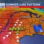 Summer weather has arrived with near-record heat