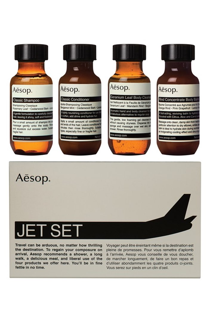 Aesop Jet Set Travel Kit ($37). It's time to celebrate Momma.  Here is our Nordie's gift guide for items under $50! (Image: Nordstrom)