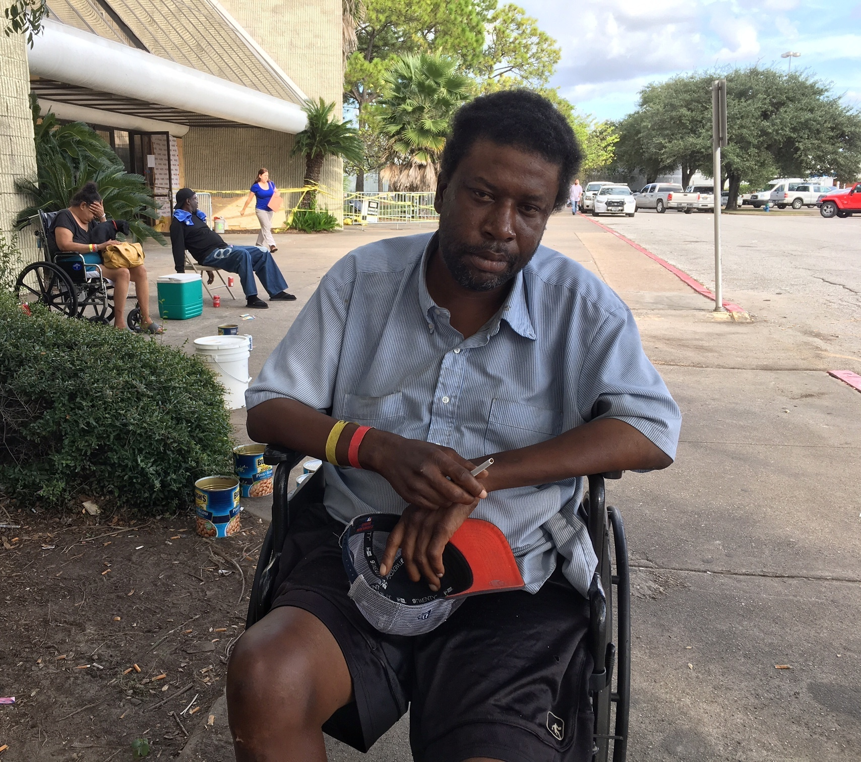 "In this Sept. 26, 2017 photo, one month after Harvey made landfall in Texas and damaged thousands of homes, Houston resident Troy Randle is one of the more than 1,300 individuals in Texas who remain living in shelters. Randle, who is disabled and had been living in a Houston hotel for the last two years until it was flooded, says he feels like he hasn't moved forward since Harvey inundated Houston and is unsure what the future holds for him. When asked what his number one need is, Randle said, ""I need housing."" Houston Mayor Sylvester Turner says one of his main priorities post-Harvey is meeting the housing needs of people who lost their homes and places to live, especially senior citizens, disabled individuals and residents from low income communities. (AP Photo/Juan Lozano)"