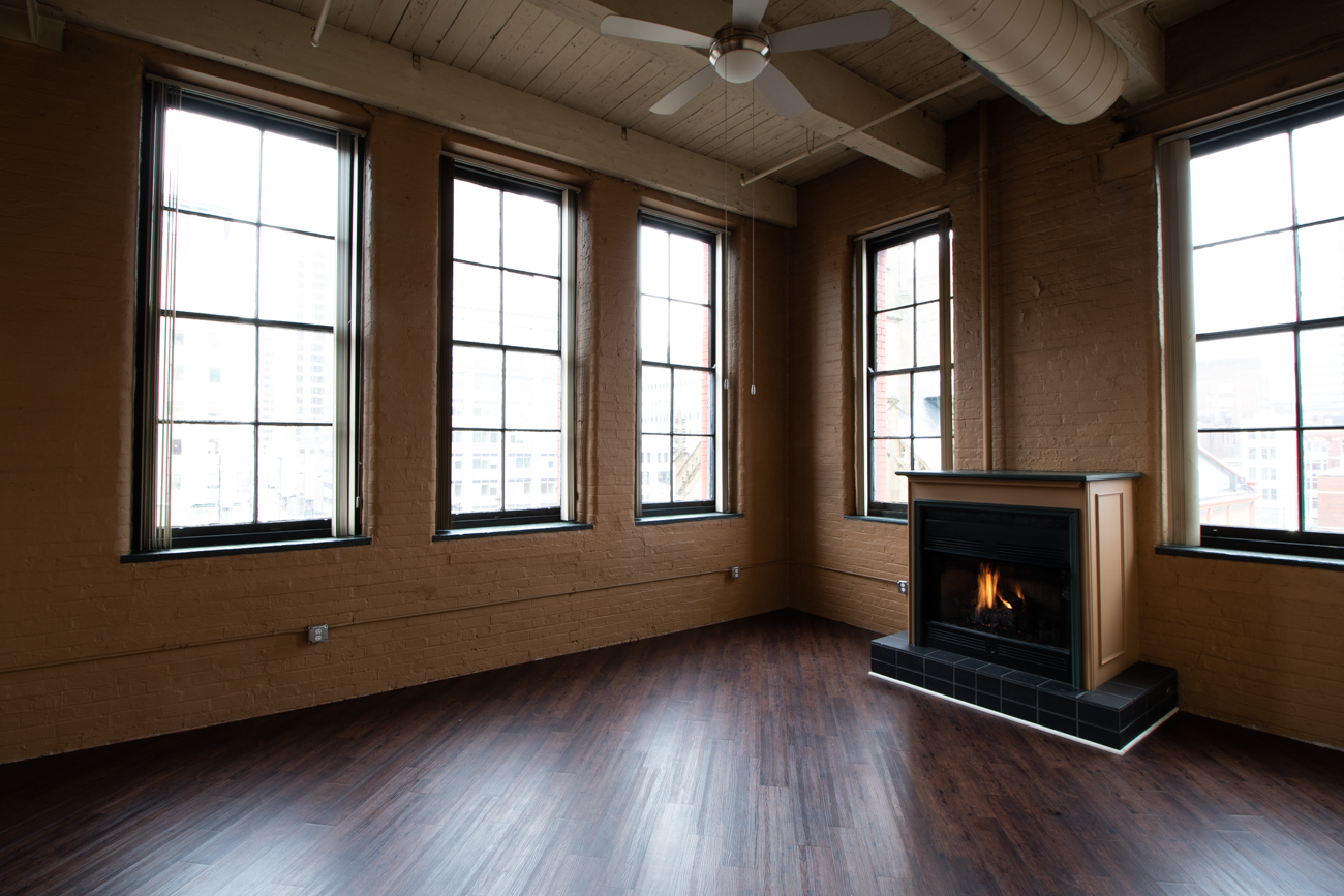 All Sycamore Place units feature a fire place.{ }/ Image: Ronny Salerno // Published: 2.6.19