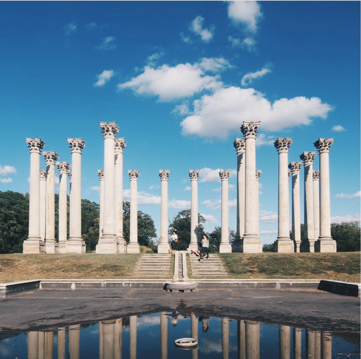 We love how the reflection showcases the Capitol Columns. (Image via @zofeeagenota)