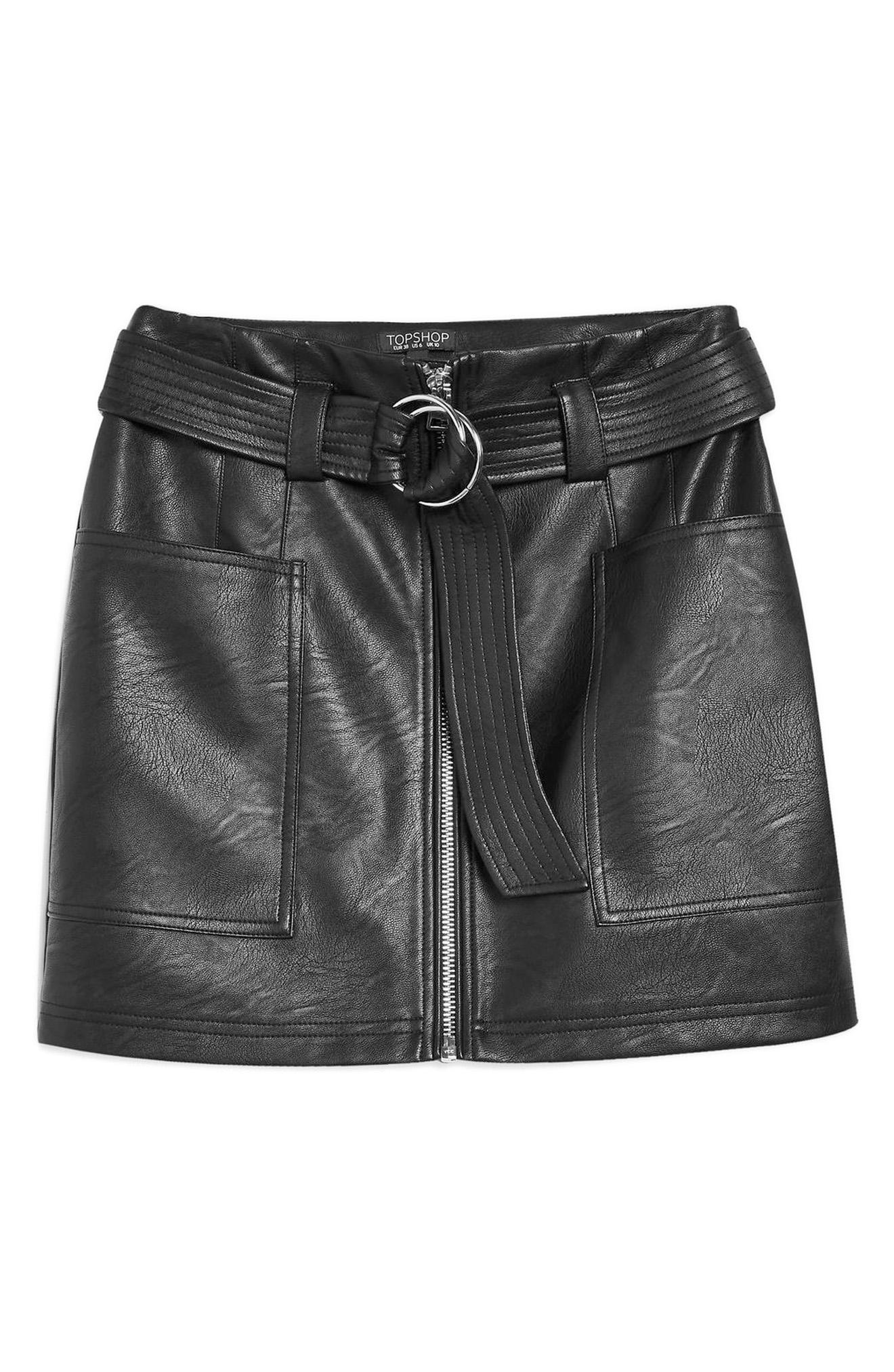 Topshop PU Skirt -- Sale: $39.90 / After Sale: $60{ }(Image: Courtesy Nordstrom)