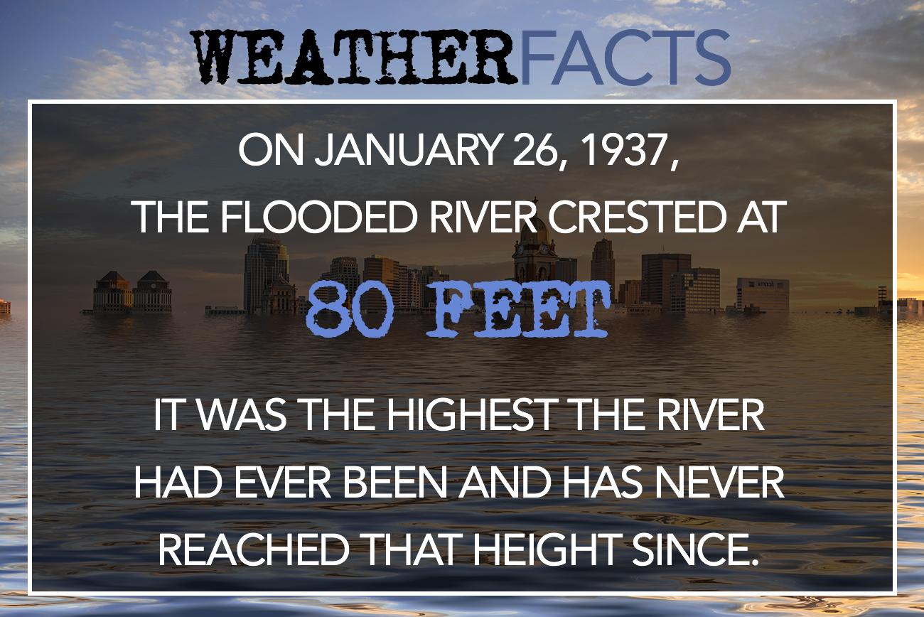 On January 26, 1937, the flooded river crested at 80 feet. It was the highest the river had ever been and has never reach that height since. / Image: Phil Armstrong, Cincinnati Refined // Published: 2.26.17