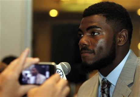 Alabama safety Landon Collins speaks to the media at the Southeastern Conference NCAA college football media days Thursday, July 17, 2014, in Hoover, Ala.