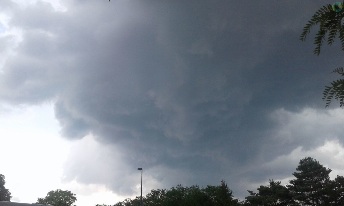 Storm clouds in Troy, photo from Liana