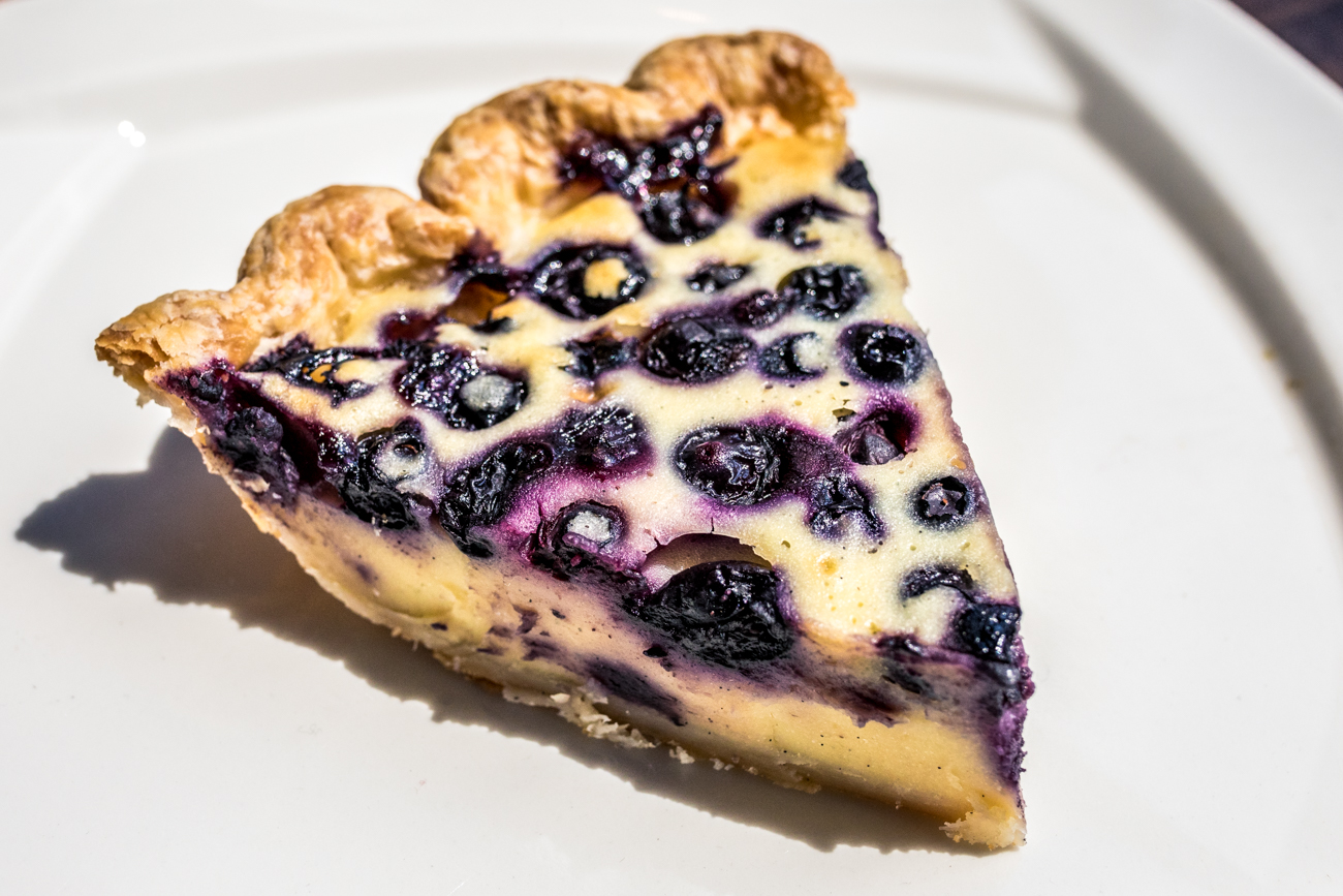 <p>Blueberry Pancake Pie: buttermilk batter & blueberries / Image: Catherine Viox&nbsp;// Published: 9.16.20</p>