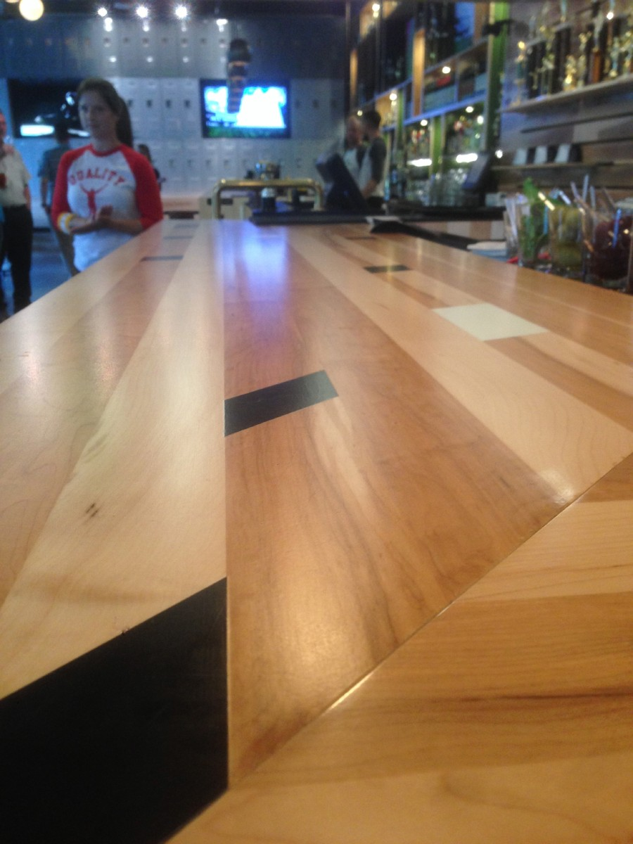 The bar at Quality Athletics looks like a basketball court. (Image: Frank Guanco)