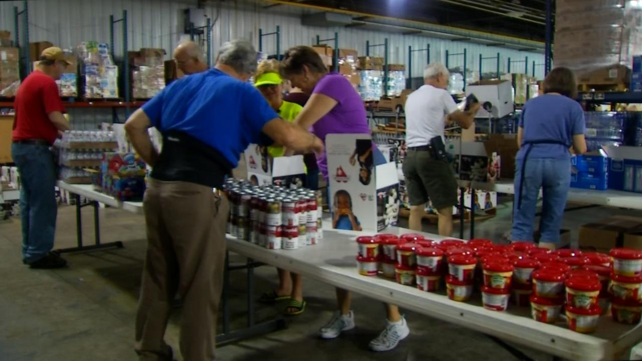 Hearts with Hands is running a donation drive to gather supplies to send down to help the growing number of flooding victims in the Baton Rouge area. (Photo credit: WLOS staff)