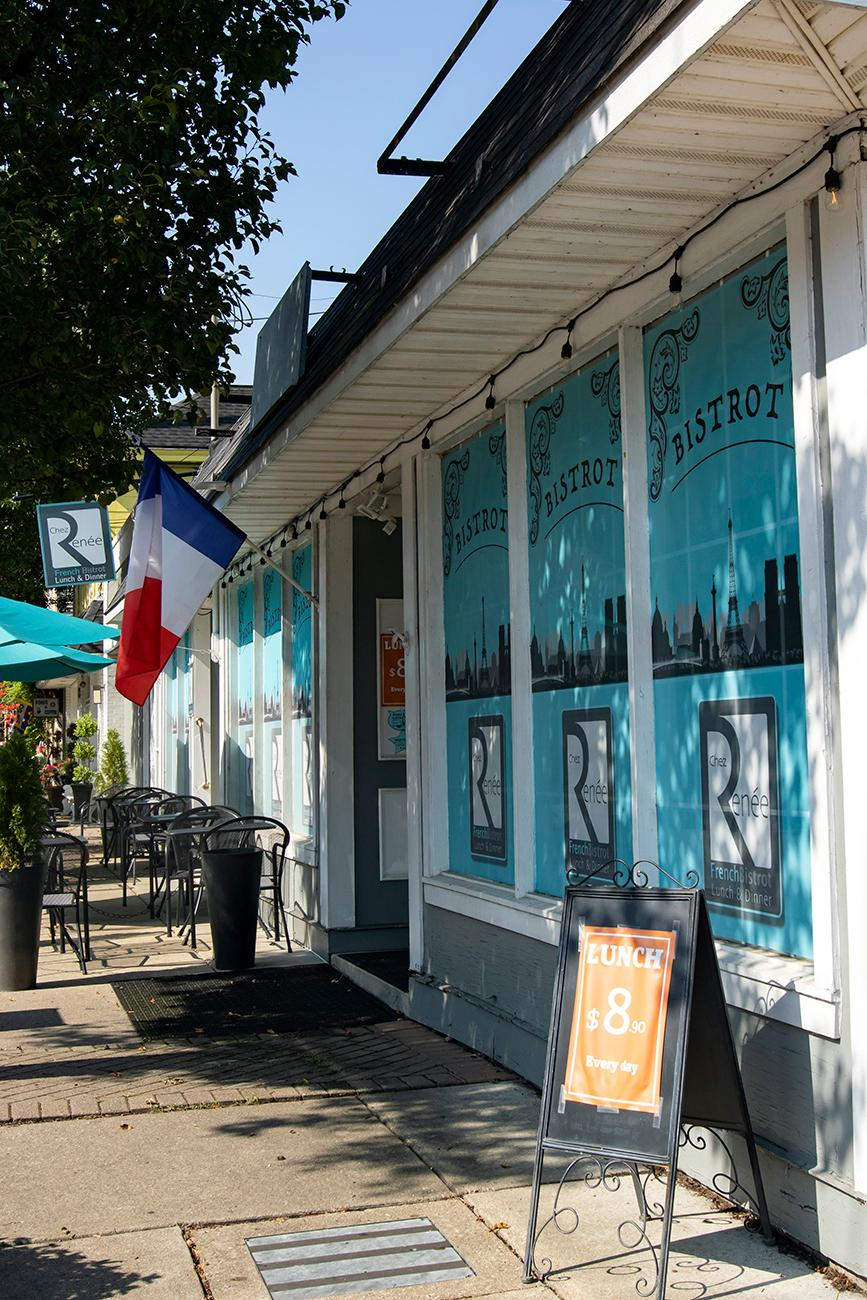 <p>Chez Renée French Bistrot is a traditional French restaurant located in the heart of Old Milford. Owners Laurent & Catherine Degois are both traditional French cooks and natives of France. The two immigrated to Cincinnati from the province of Loir-Atlantique and chose Old Milford because it reminded them of the small, walkable towns in France. They use local ingredients from Ohio Food Valley, Sixteen Bricks, and Lerh's Prime Market, and make everything from scratch. It's open Tuesday through Thursday for lunch from 11 AM to 3 PM and dinner from 5 to 9 PM, and on Friday & Saturday from 11 AM to 10 PM. ADDRESS: 233 Main Street (45150) / Image: Allison McAdams // Published: 8.19.19</p>