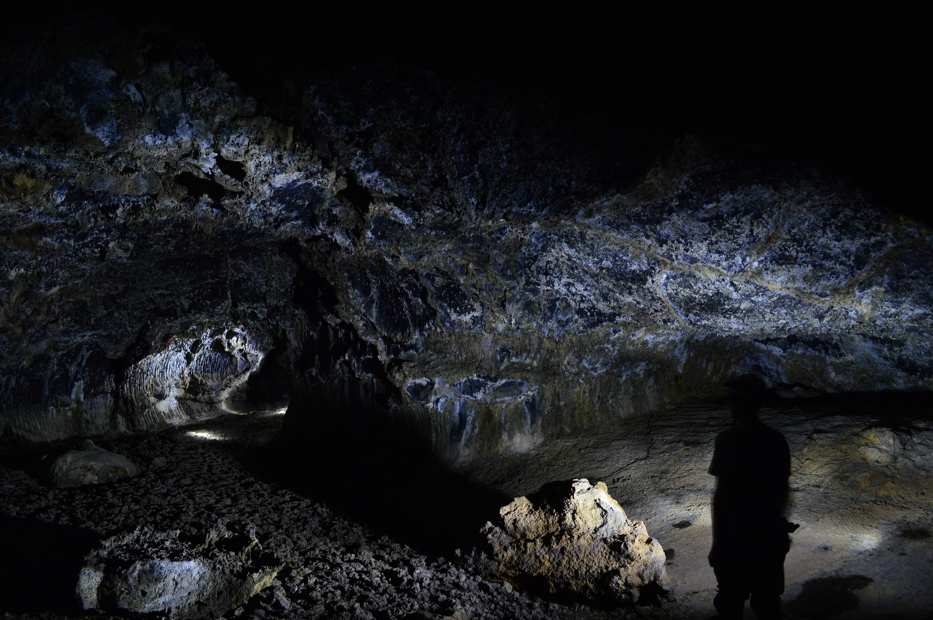 Many of the caves at Lava Beds National Monument were discovered by J.D. Howard. Photo courtesy Lava Beds National Monument