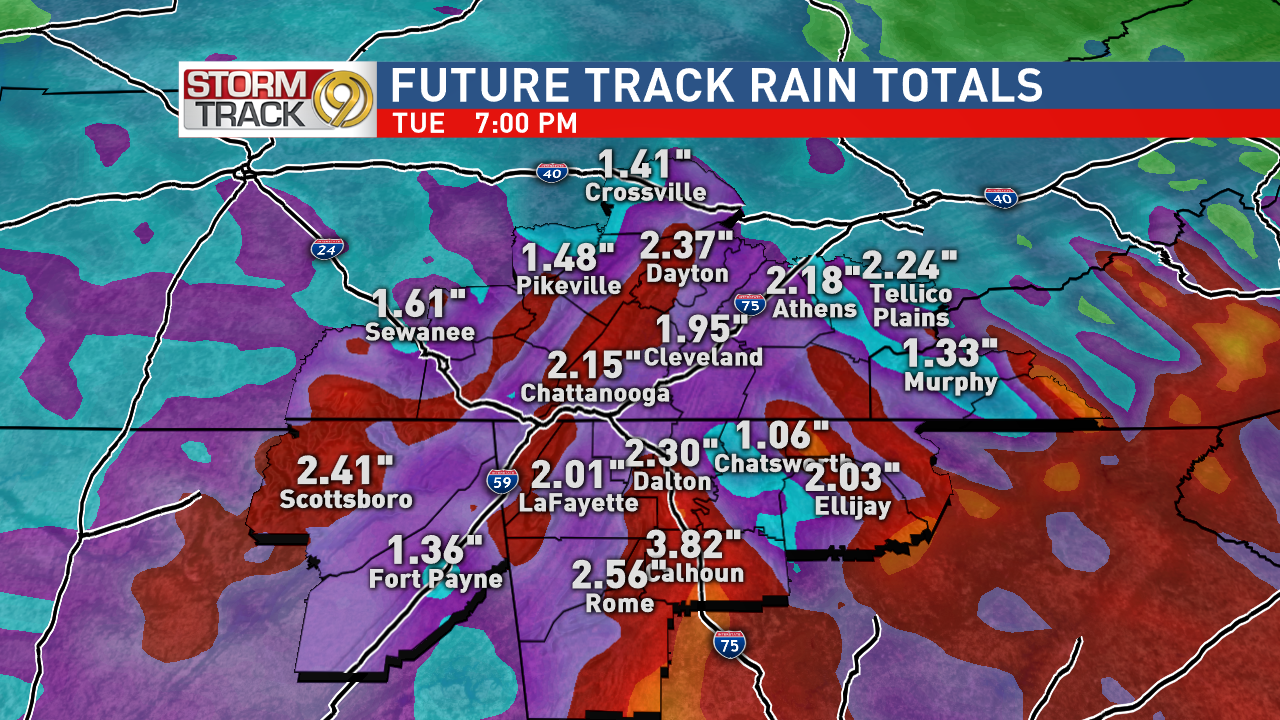 Model Rainfall Totals Through Tuesday.png