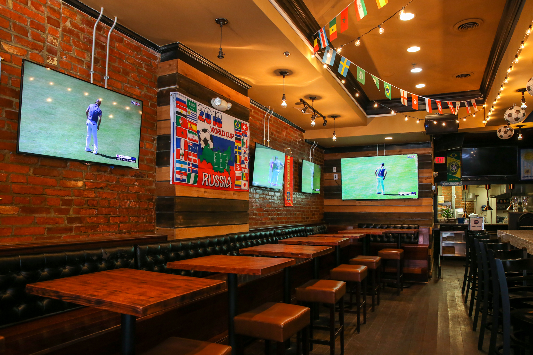 The World Cup might be in Russia, but you can feel close to the action at World Cup HQ, a pop-up bar at 1214 U St NW. Between June 15 and July 15, you can nosh on burgers from Lucky Buns' Alex McCoy, who is creating a menu inspired by the competing teams. For those who want to channel their inner hooligan, there's plenty of booze, including special World Cup-themed beer, shareable cocktails and frosé. Don't worry about that time difference - the bar opens at 8 a.m. and they replay the day's games at happy hour. (Amanda Andrade-Rhoades/DC Refined)
