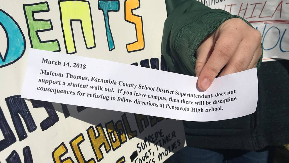 Local students participate in National Walkout Day