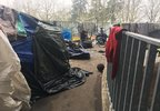 ODOT, police sweep Salem homeless camp - KATU photo from reporter Genevieve Reaume - 2.jpg