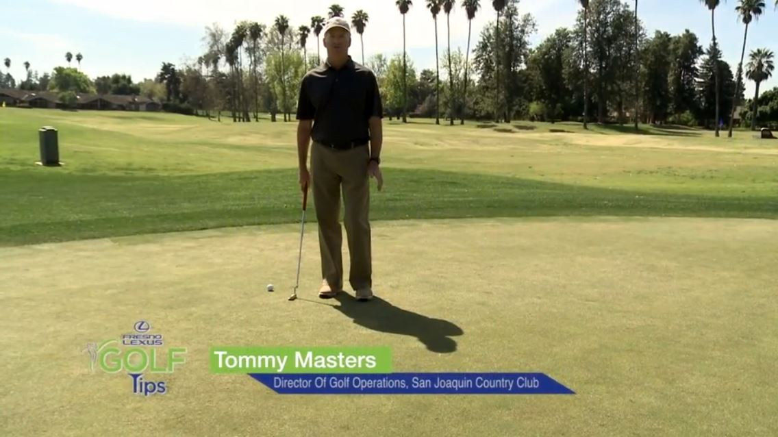In this tip, Tommy Masters shows you how to read the green and line up your putt.