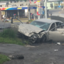 Speeding car crashes into 3 others