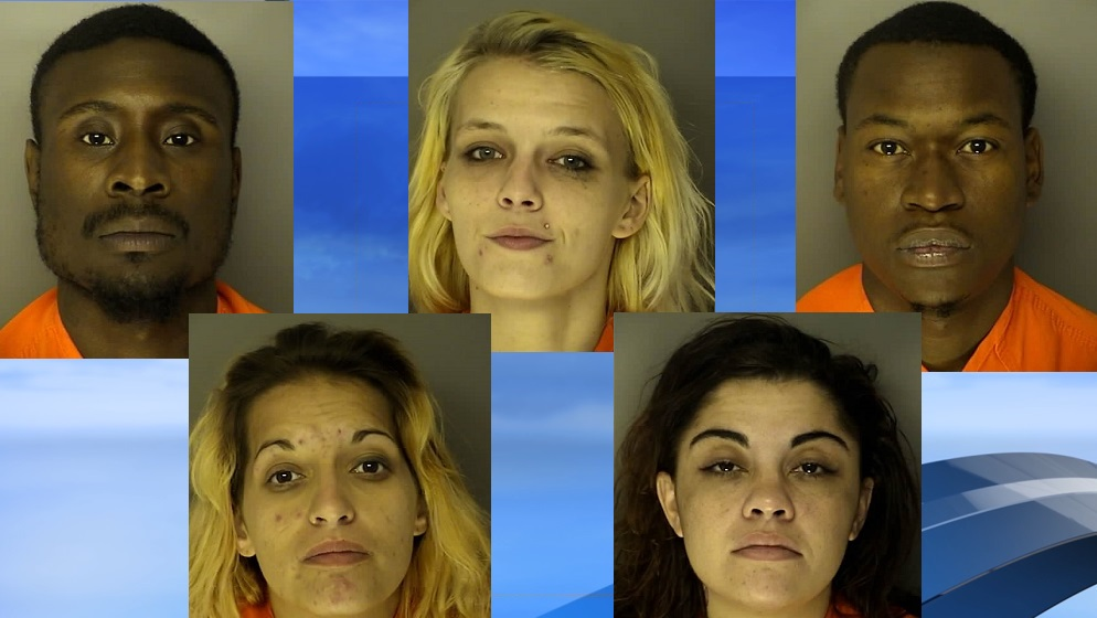 Five arrested after search at Myrtle Beach motel reveals drugs, guns (J. Reuben Long Detention Center photos. WPDE background)<p></p>