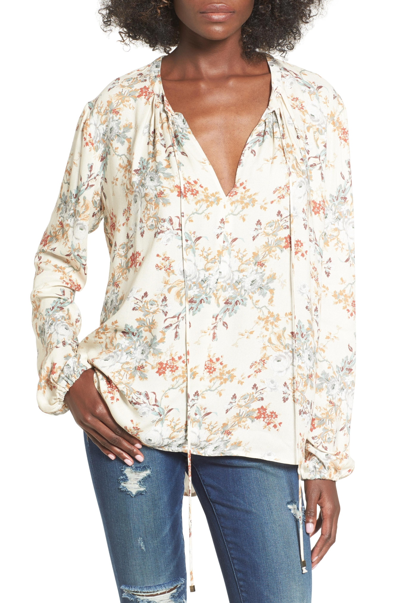 Wayf 'townsend' long sleeve peasant top (Nordstrom)
