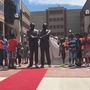 Statue honoring Fr. Hesburgh, MLK Jr. unveiled in South Bend